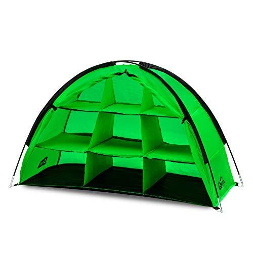 Qeedo Quick Shelf Campingschrank, 120 x 70 x 50cm, Faltschrank, schneller Aufbau - grün