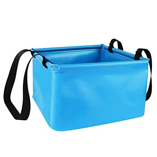 Redmoo Outdoor Faltschüssel 15L, Faltbarer Eimer Camping Waschschüssel aus langlebigem Planen Gewebe mit Verstärkte Ecken Alternative zur...