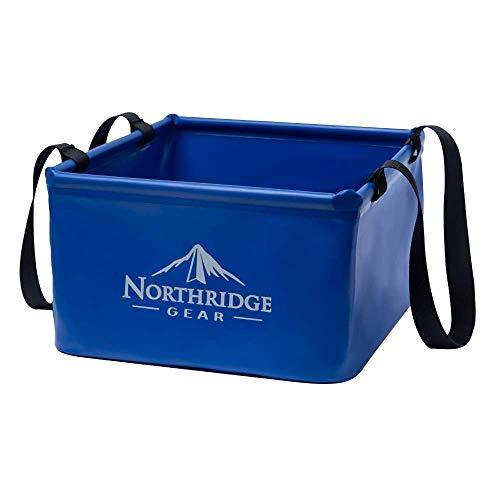 Falteimer Faltschüssel Spülschüssel | Camping Angeln Garten Party | Einsetzbar als Faltbare Wasch-Schüssel, Wasserkanister oder...
