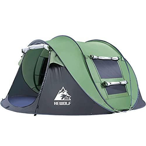 HEWOLF Wurfzelt 2-3 Personen Wasserdicht Pop Up Camping Zelt Automatik Ultraleichtes Familienzelt Sekundenzelt Sonnenschutz Cabana Strand...