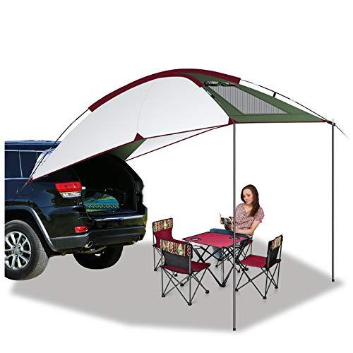 Buycitky Autozelt Sonnendach für Campingbus, Bus Vorzelt Wohnwagen Markise Sonnensegel Wasserdicht, Busvorzelt Campingzelt Heckzelt,...