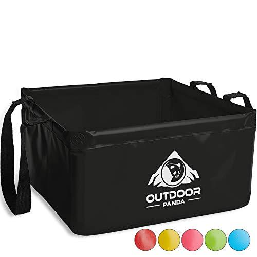 OUTDOOR PANDA: Outdoor Faltschüssel 20 Liter | Faltbare Camping Waschschüssel aus langlebigem Planen Gewebe | Platzsparende und leichte...