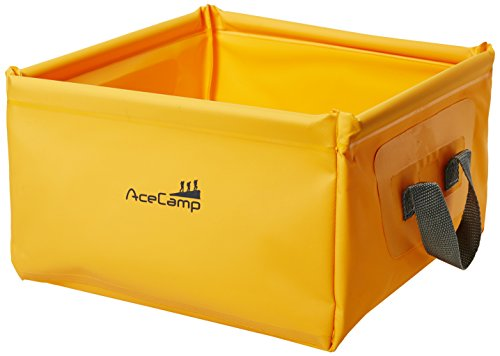 AceCamp 5 Liter Outdoor Faltschüssel, Faltbare Camping Waschschüssel aus langlebigem Vinyl, Orange, 1700