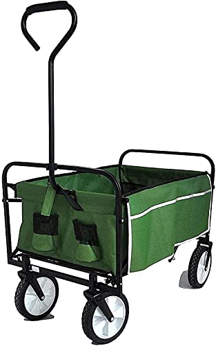 Eortzzpc Handwagen Folding Wagon Wagen Tragbare Große Bollerwagen-Dienstprogramm zusammenklappbarer Wagon Folding Wagon Garten...