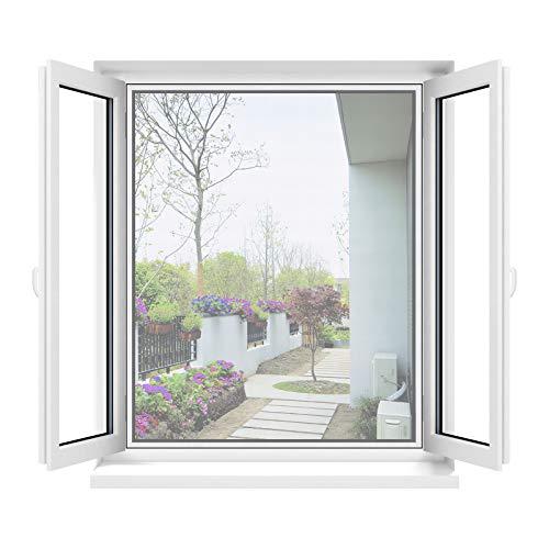 Apalus Fliegengitter Fenster, Zuschneidbar auf Fenstergrößen bis 130x150cm, Insektenschutz mit Starkem Klettband, Kinderleichte Montage,...