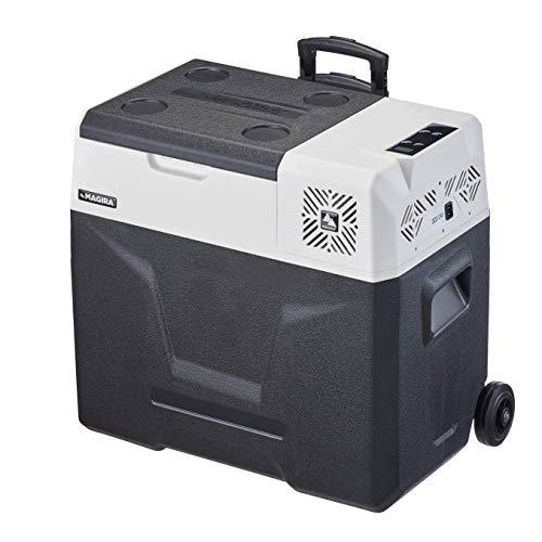 MAGIRA 50 Liter Kompressor-Kühlbox 12/24V und 230V Alaska MF50-C elektrischer Mini-Kühlschrank für Camping, Auto oder LKW mit Steckdose...