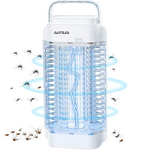 AUTSCA Insektenvernichter, 18W Elektrischer Insektenvernichter Insektenfalle, UV Mückenschutz Mückenvernichter Mückenfalle, Ideal Moskito...