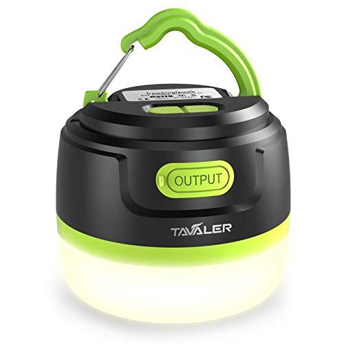 Tavaler Campinglampe LED 5200 mAh Akku Zeltlampe USB Aufladbar Camping Lampen IP65 Wasserdicht Camping Licht mit Taschenlampe Funktion für...