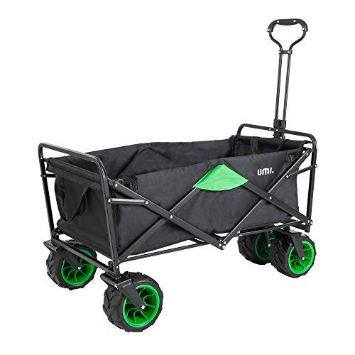 Amazon Brand - Umi Bollerwagen Offroad Transportwagen Handwagen faltbar Gartenwagen die Reifen mit Lager für Alle Gelände Geeignet...