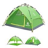 TAOBEGJ Zelt 3/4 Personen,Familienzelt, Kuppelzelt Outdoor Wasserdicht Campingzelt Iglu-Zelt, Trekkingzelt, Dauerventialtion, Moskitoschutz,...