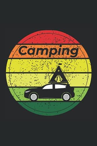 Camping mit Dachzelt: Notizbuch im A5-Format mit 120 linierten Seiten für alle Abenteurer
