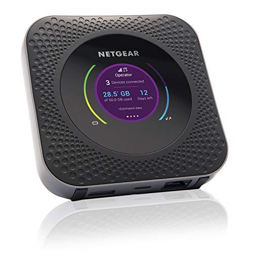 Netgear Nighthawk M1 Mobiler WLAN Router / 4G LTE Router MR1100 (bis zu 1 GBit/s Download-Geschwindigkeit, Hotspot für bis zu 20 Geräte,...