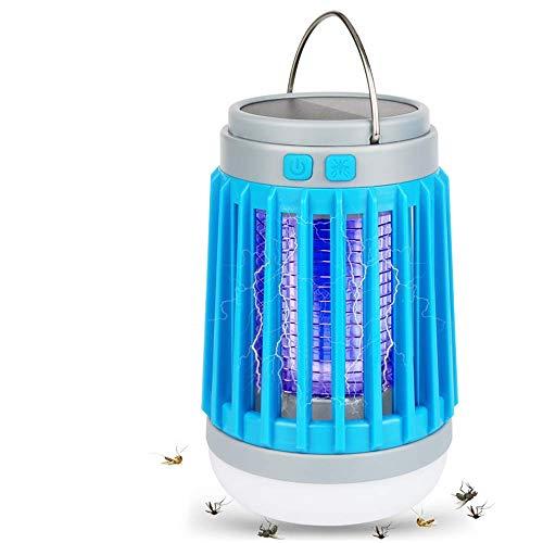 Insektenvernichter Camping, Insektenvernichter Elektrisch UV Lampe Moskito Killer Mückenkiller LED Campinglampe Solar, Mückenschutz,...