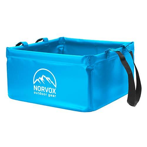NORVOX Outdoor Faltschüssel - 15L oder 20L - Blaue faltbare Schüssel - Universell als Camping Spülschüssel, Waschschüssel, Spülwanne...