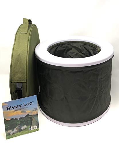 Bivvy Loo Campingtoilette, tragbar, faltbar, max Tragfähigkeit ca. 140 kg, für Camping, Angeln