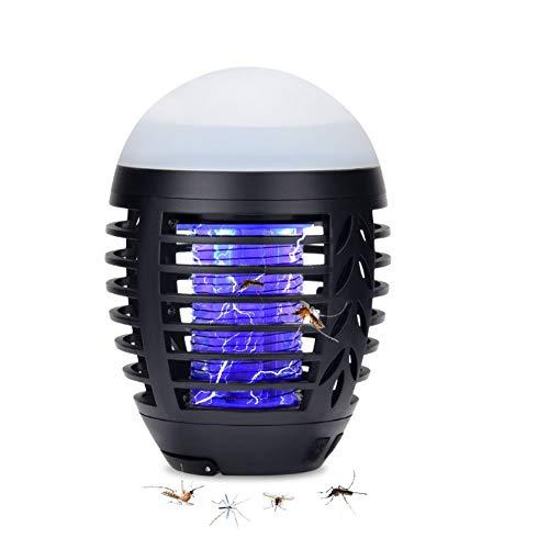 HISOME Moskito Lampe, Moskito Killer Licht Bug Zapper UV Insektenfalle, USB Elektrisch Mückenfalle, 2-in-1 Elektrischer Insektenvernichter...