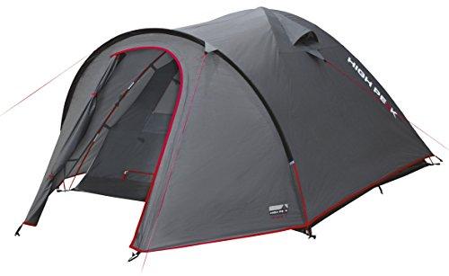 High Peak Kuppelzelt Nevada 3, Campingzelt mit Vorbau, Iglu-Zelt für 3 Personen, doppelwandig, 3.000 mm wasserdicht, Ventilationssystem,...