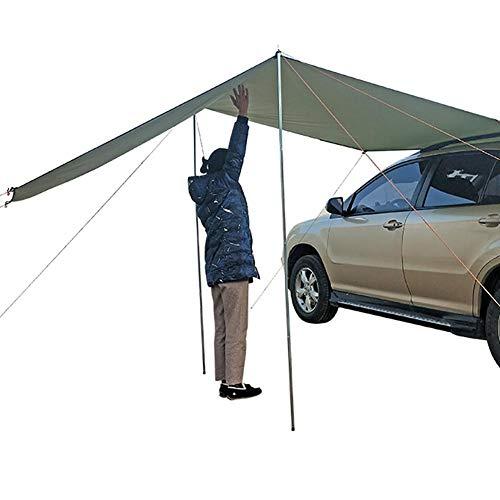 wangza Sonnendach für Campingbus Busvorzelt Wasserdicht Vordach Markise Sonnensegel Camping Zelt Auto Wohnmobil Outdoor Camping Heckklappe...