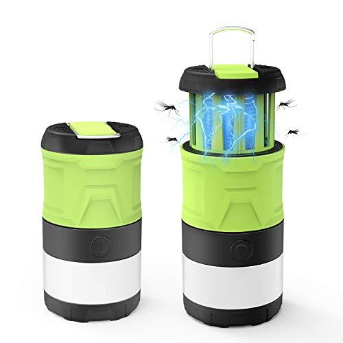 Campinglampe LED Laterne Moskitoschutz Draussen Multi Kompakte IPX4 wasserdicht Faltbare mit Magnetisch Camping Lampe UV Insektenvernichter...