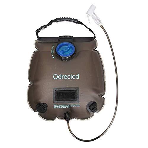 Qdreclod Campingdusche Solardusche Tasche, 20L Tragbare Solar Gartendusche Outdoor Warmwasser Dusche Reisedusche mit Thermometer, EIN/aus...