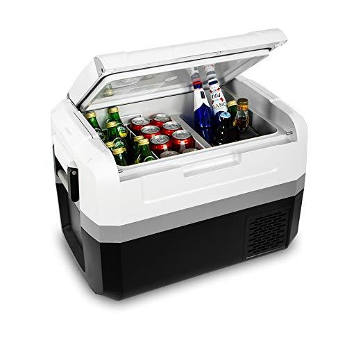 Fullwatt ZXY45, elektrische Kompressor-Kühlbox,45 L,12/24/230 V,Mini-Kühlschrank für Auto, Lkw, Boot, Reisemobil und Steckdose mit...