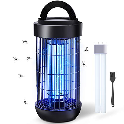 DOUHE Elektrischer Insektenvernichter, 4000V Elektrisch Mückenlampe mit UV-Licht, 18W Insektenfalle Mückenlampe, wirkungsvoll gegen...