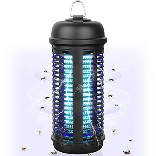 Inskondon Elektrischer Insektenvernichter 18W Innen Außen Gärten Insektenschutz,UV Insektenvernichter 80㎡ 365nm Insektenfalle...