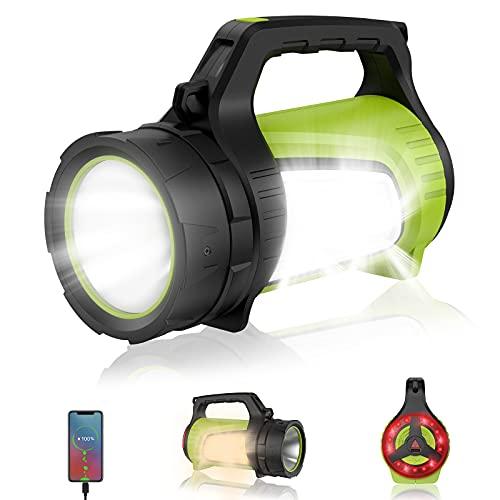 eeFul Campinglampe Handscheinwerfer Arbeitsleuchte Flashlight - Superhell 2000 Lumen mit 8800mah Powerbank inkl 10 Lichtmodi IPX4...