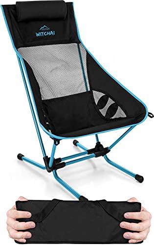 normani Strandstuhl klappbar Ultraleichter Campingstuhl faltbar Beachchair bis 150 kg - EXTREM kleines, leichtes Packmaß Farbe Blau