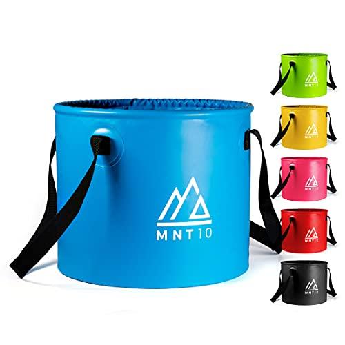 MNT10 Outdoor Falteimer in 15L oder 20L I Faltschüssel aus robustem Planen Gewebe I Als Camping Spülschüssel, Spülwanne oder als...