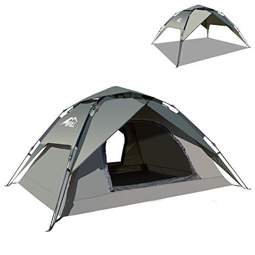 BFULL Instant Pop Up Camping Zelte für 2-3 Personen Familie, Kuppelzelte Wasserdicht Sonnenschutz Backpacking Wurfzelte Schnell Set-up für...