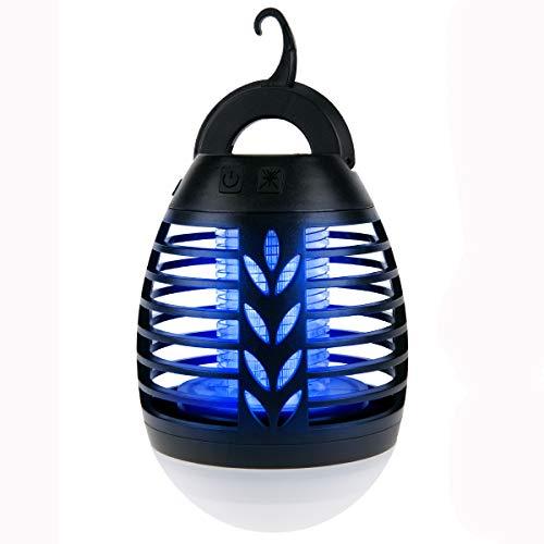 IREGRO Insektenvernichter, Mückenschutz Elektrisch, Mückenlampe UV, Mückenschutz für Camping Outdoor, USB Insektenfalle mit...