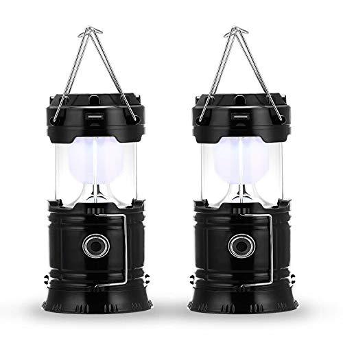 Fulighture LED Camping Lampe,Stecker und Solar wiederaufladbar, mit Powerbank,tragbar & handlich,Wasserdicht und Winddicht,für...
