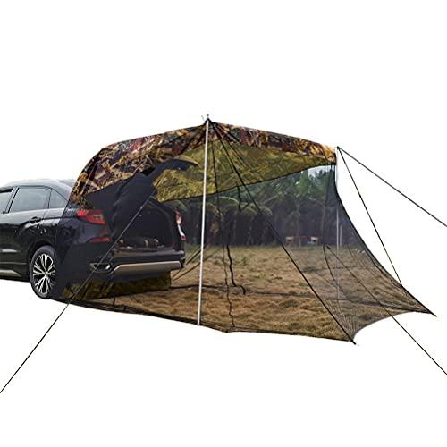 Ayaaa Autozelt Dachzelt Auto Markise Sonnensegel Verlängern Sie das Heckzelt SUV-Auto-Seitendach mit Moskitonetz...