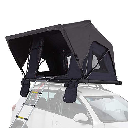 Qeedo Freedom Light 120 Dachzelt für 2 Personen (225 x 135 x 28cm), extra leichtes Autodachzelt mit Softcover