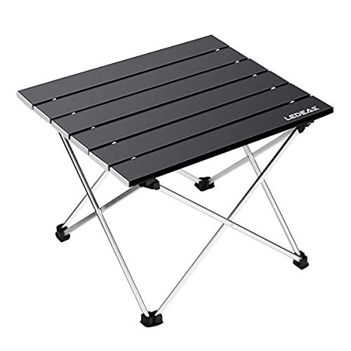 Ledeak Tragbar Klapptisch, Aluminium Campingtisch Ultra Leichte mit Tasche, Leicht zu tragen, klappbar Tisch Präfekt für Camping Picknick...