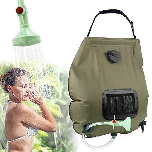 KIPIDA Solardusche Outdoor, 20L Campingdusche Solar Wassersack Heizung Camping Dusche Tasche mit Duschkopf Gartendusche Pooldusche...