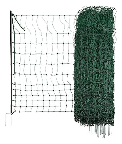 Kerbl 292278 Geflügelnetz 50 mtr, 106 cm Doppelspitze, grün, ohne Strom, 10.02 kg