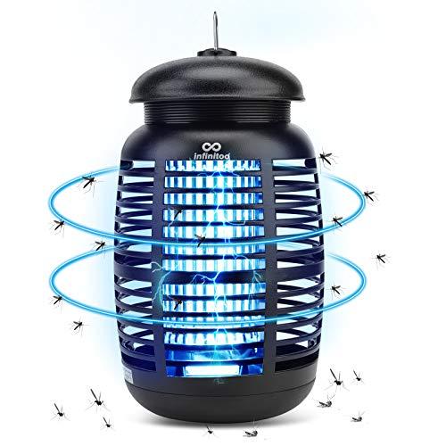 infinitoo Elektrischer Insektenvernichter, Fliegenfalle Elektrisch Insekten-Mückenfalle 15W 4200V, Moskito Killer Mückenlampe Keine...