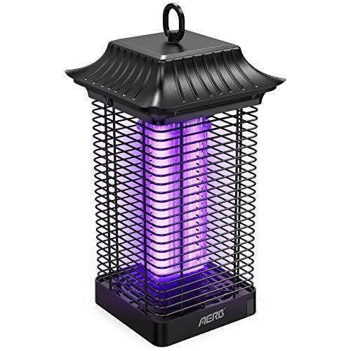 Aerb Elektrischer Insektenvernichter 18W,Insektenfalle Mückenlampe 4000V mit UV-Licht,Keine giftigen Chemikalien,Wirksam zum Reduzieren...