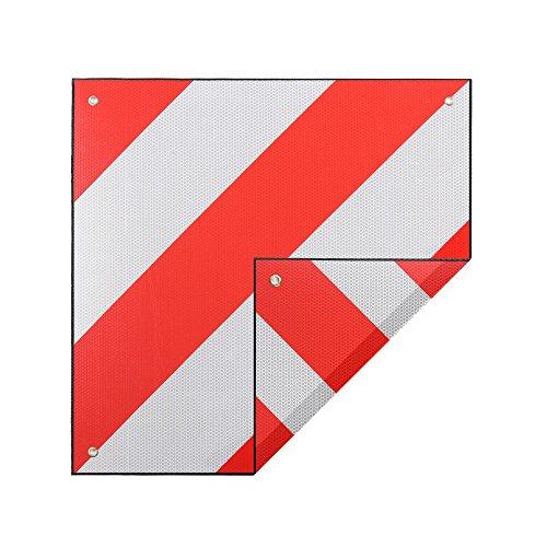 Zelsius Aluminium Warntafel | Spanien UND Italien | 2in1 rot-weiß 500 x 500 mm | reflektierend für Fahrradträger, Heckanhänger,...