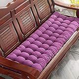 ANBEN 2- und 3-Sitzer-Bankmatte, rechteckig, weich, für den Garten, drinnen und draußen, aus Metall oder Holz, lila, 55 x 180 cm