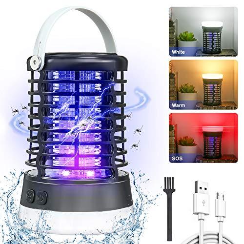 AMBOTHER Insektenvernichter Elektrisch, 5W 2000V Mosquito Killer Campinglampe, 3 Lichtmodi UV Mückenlampe, IP66 Wasserdicht Mückenfalle,...