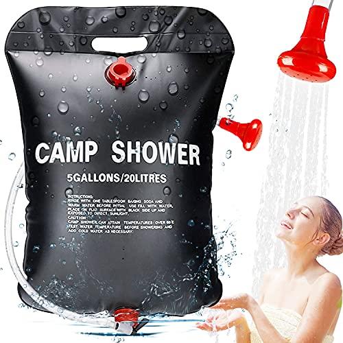 ECtury 20l Campingdusche Solardusche, Mobile Solardusche Camping Dusche Set, Outdoor Gartendusche Kinder Warmwasser, Tragbare...