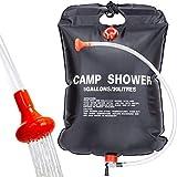 Qdreclod Campingdusche Solardusche Tasche, 20L Tragbare Solar Gartendusche Outdoor Warmwasser Dusche Reisedusche mit Duschkopf, Schlauch,...