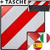 MATADORES Premium 2in1 Warntafel für Italien UND Spanien inkl. GRATIS Tasche   Aluminium, 50x50cm, reflektierend   Für...