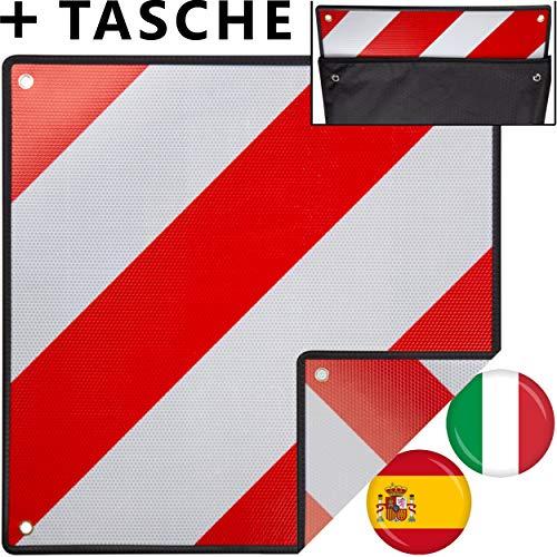 MATADORES Premium 2in1 Warntafel für Italien UND Spanien inkl. GRATIS Tasche | Aluminium, 50x50cm, reflektierend | Für...