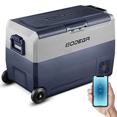BODEGA 50L Auto kühlschrank kühlbox -20℃-20℃ minikühlschrank Wohnwagen Outdoor Camping LKW Gas 12/24V DC,100-240V AC Kompressor...