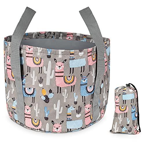 Camping Faltbarer Eimer 26L Tragbare Faltschüssel zusammenklappbare Wasserbehälter Platzsparendes leichtes Waschbecken Flexible Outdoor...