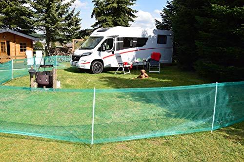 Begrenzungszaun Universal, grün, 80 cm, 20 m - Schutznetz Begrenzungszaun für Abgrenzungen sowie Schutz in Hof, Garten und Campingplatz -...